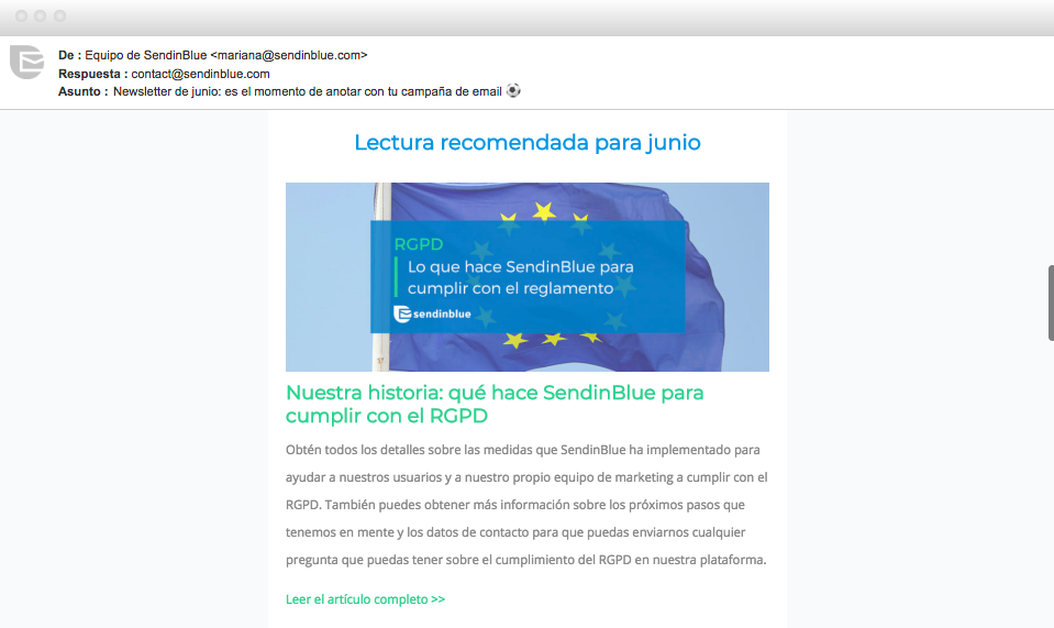 ejemplo de email