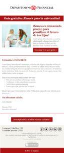 Plantilla de email B2B: lead generation