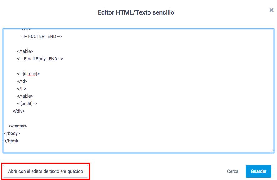 editor plantillas newsletter html