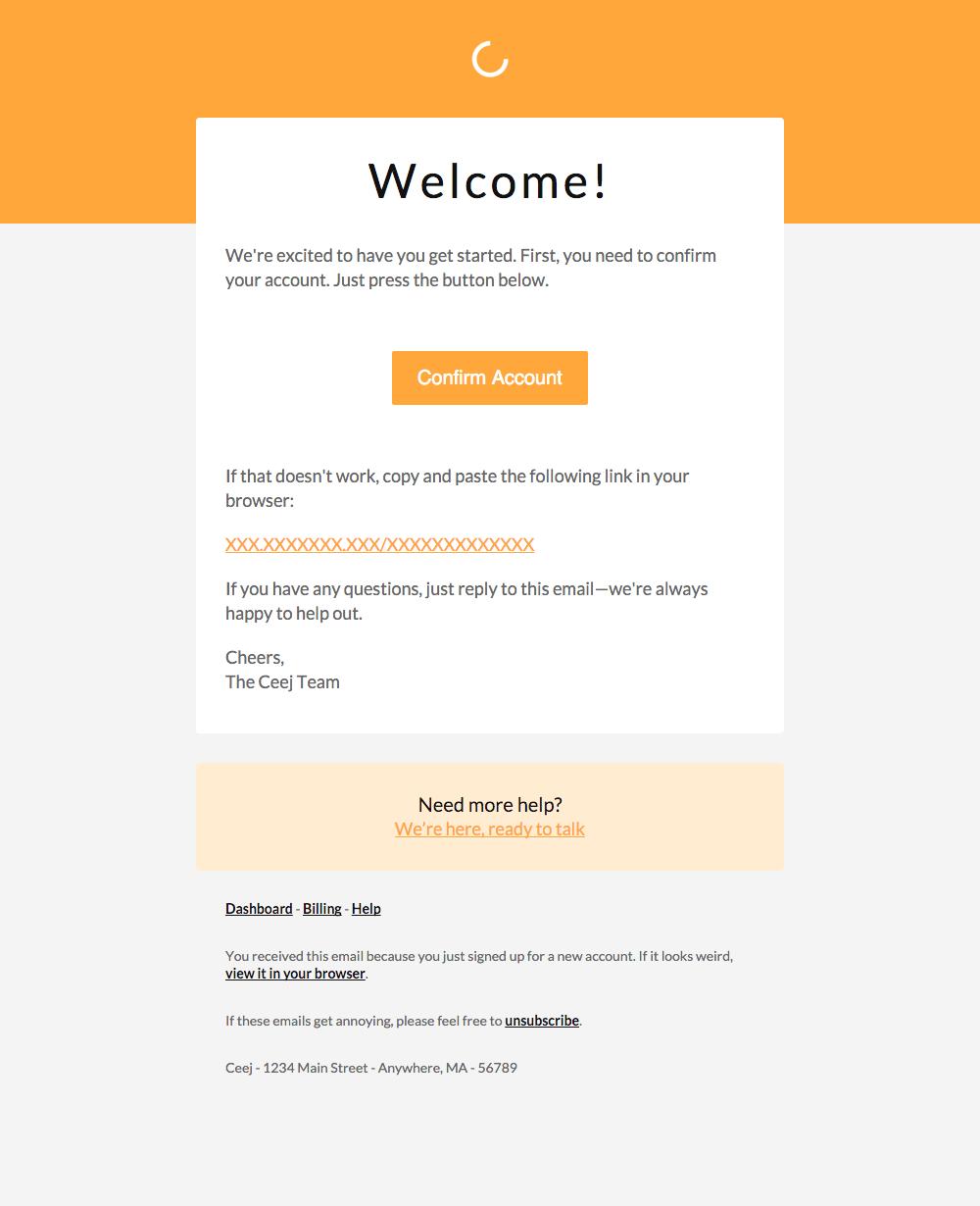 ejemplo de bienvenida