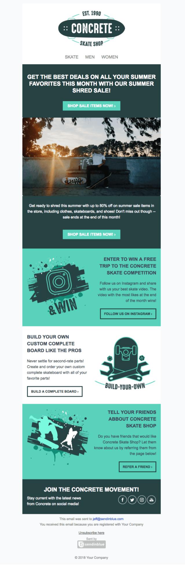 ejemplo de plantilla de newsletter