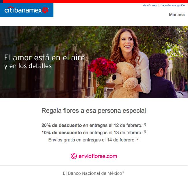 ejemplo email san valentin