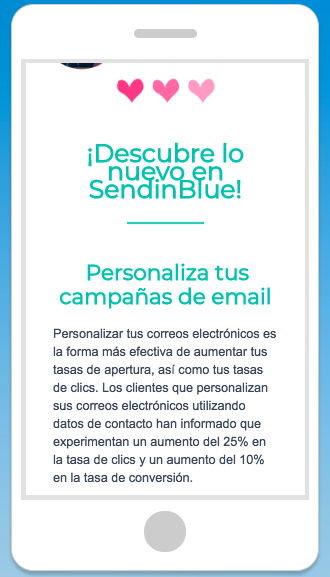 ejemplo email marketing movil
