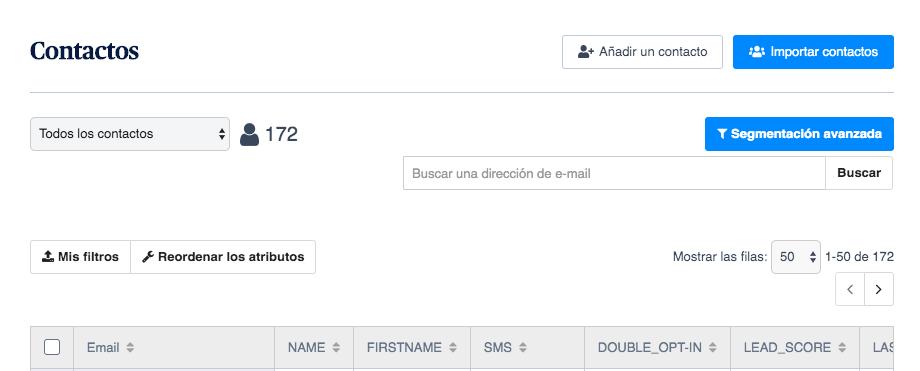 crear newsletter agregar contactos
