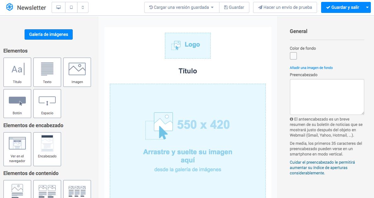 crear newsletter diseño