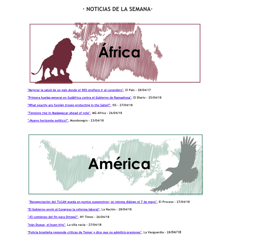 ejemplos de newsletter
